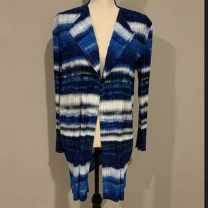Chico's Collection Size 3 Cardigan Ocean Stripe